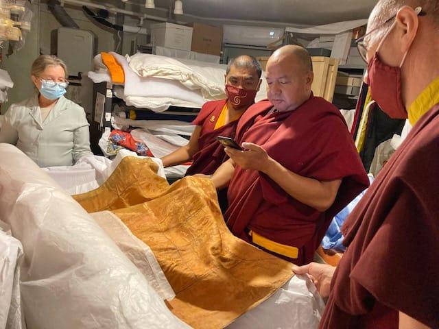 Lama Pema visits Shambhala Archives
